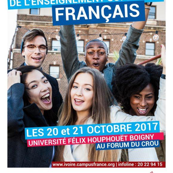 Campus France et Université FHB : salon des études supérieures en France les 20 et 21 octobre 2017