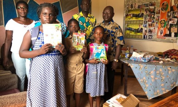 Actions caritatives. partenariat avec le groupe scolaire d'Akouedo
