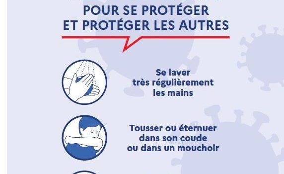 Santé publique France : Gestes pour se protéger et protéger les autres
